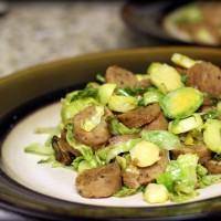 Nike Training Club + Roasted Brussel Sprouts with Smoked Apple Sausage