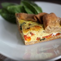 Whole Wheat Caprese Tart
