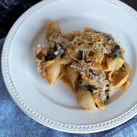 Macaroni and Cheese with Butternut Squash and Swiss Chard
