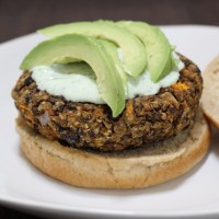 Black Bean, Lentil & Sweet Potato Veggie Burgers