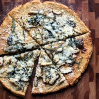 Shiitake, Basil and Lemon Cauliflower Pizza