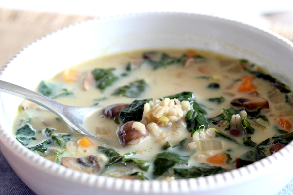 Savory Barley Soup With Wild Mushrooms And Thyme Recipe ...