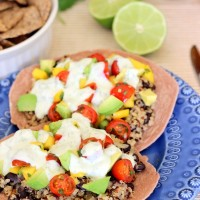 Black Bean & Quinoa Tostadas with Mango Salsa