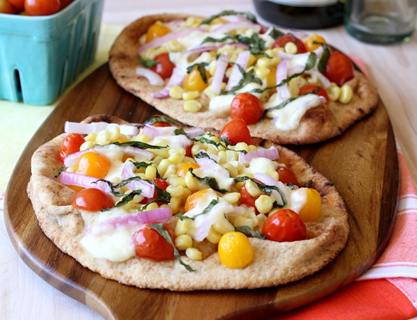 Roasted Corn & Tomato Naan Pizzas (143)