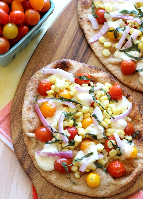 Roasted Corn & Tomato Naan Pizzas (88)