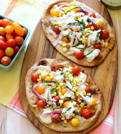 Roasted Corn & Tomato Naan Pizzas (98)