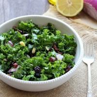 Detox Kale Salad with Lemon Apple Vinaigrette