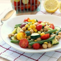 Easy Summer Veggie Salad (vegan and gluten-free)