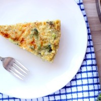 Roasted Broccoli & Corn Quinoa Frittata