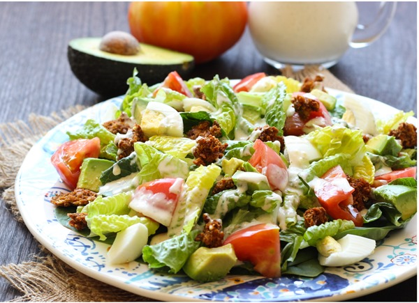 Healthy Cobb Salad with Yogurt Ranch Dressing 13
