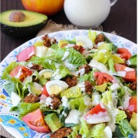 Healthy Cobb Salad with Yogurt Ranch Dressing