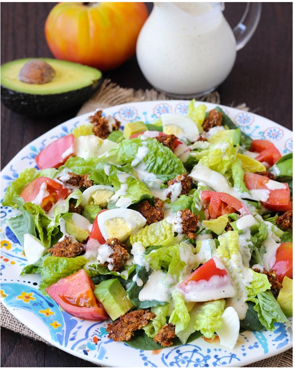 Healthy Cobb Salad with Yogurt Ranch Dressing 5