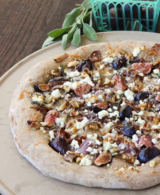 Fig, Sage & Caramelized Onion Pizza with Goat Cheese