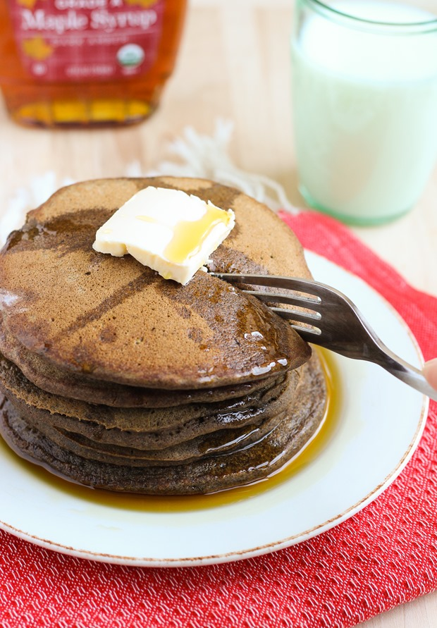Buckwheat Gingerbread Pancakes {gluten-free and dairy-free}