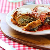 Eggplant Rollatinis {gluten-free option}