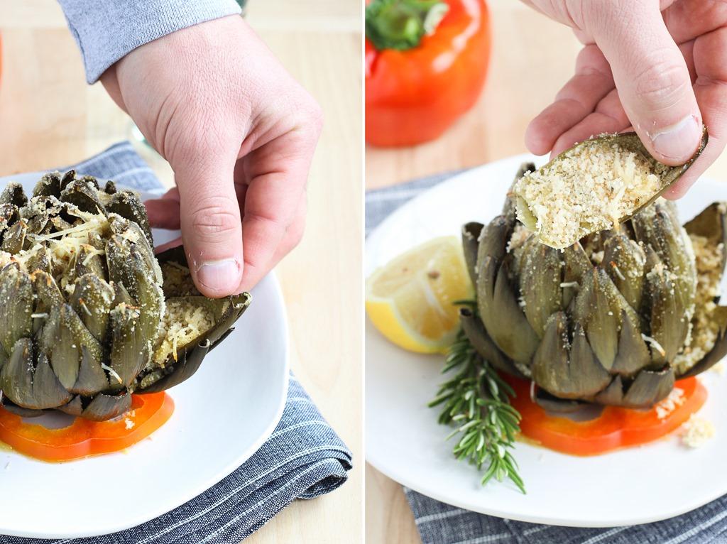 Italian Stuffed Artichokes - Making Thyme for Health
