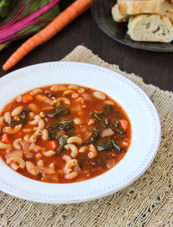 Easy White Bean & Tomato Soup {vegan}