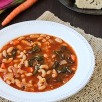 Easy White Bean & Tomato Soup {vegan}