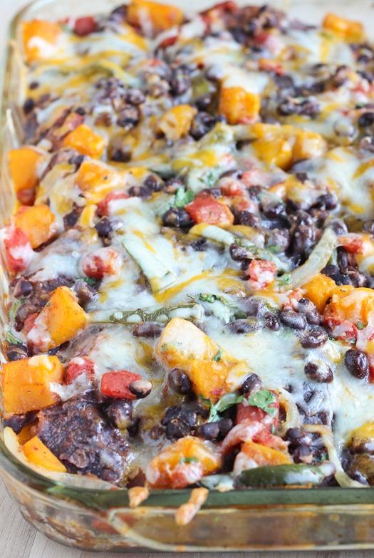 Roasted Butternut Squash Enchilada Casserole