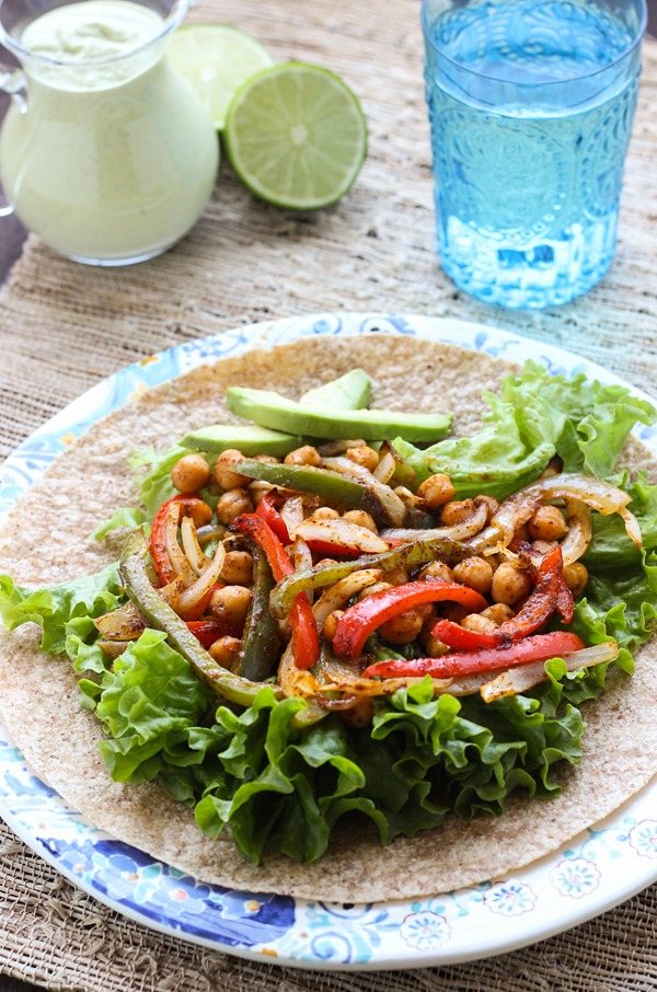 Roasted Chickpea Fajitas
