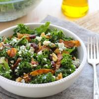 Kale Salad with Vegan Coconut Bacon