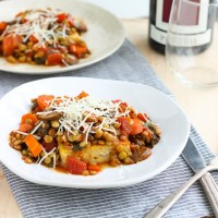 Polenta with Spicy Tomato Lentils