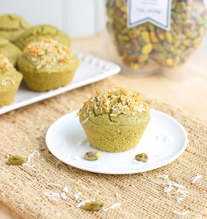 Secret Ingredient Pistachio Muffins