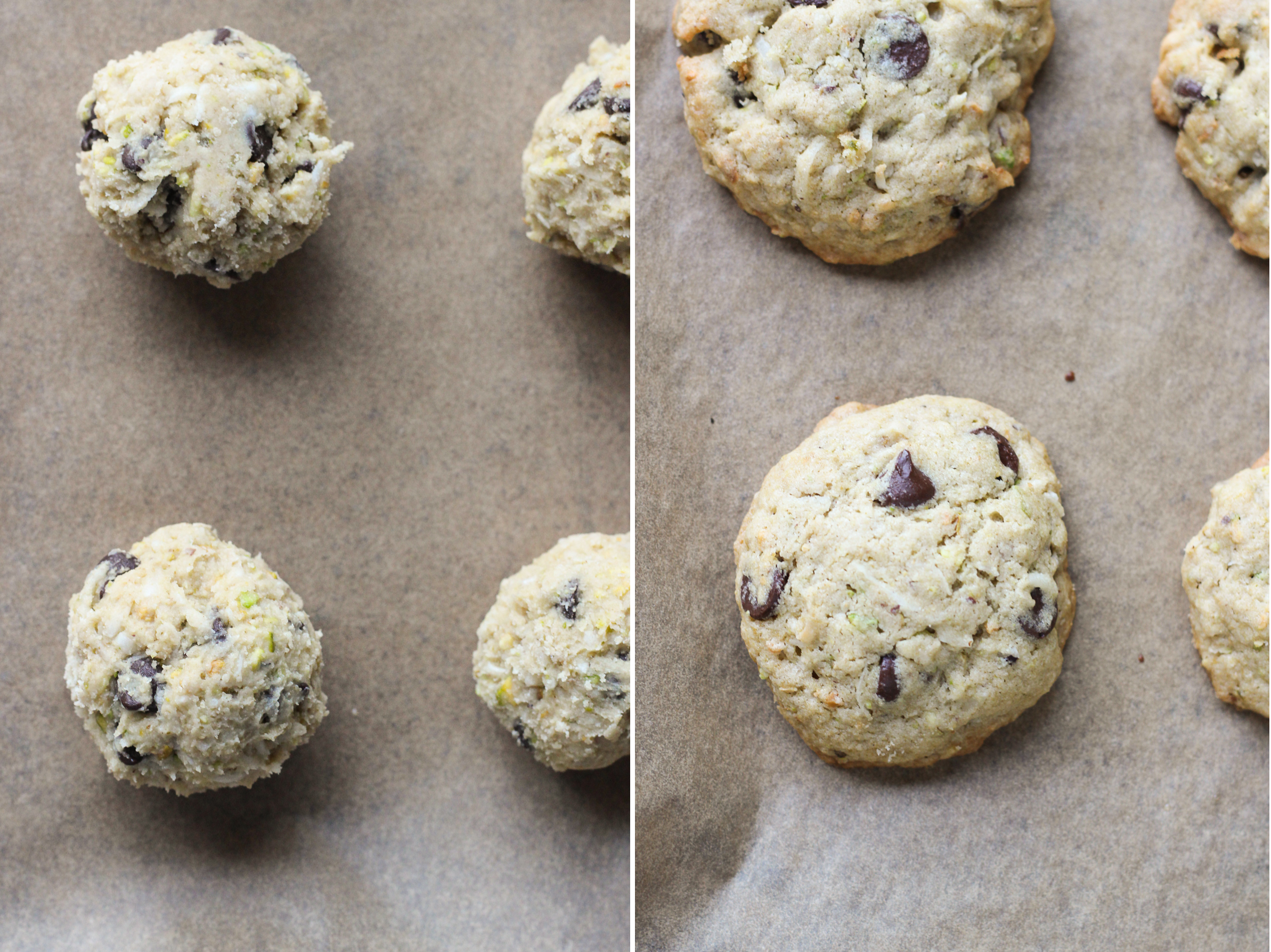 Chocolate Chip Coconut Pistachio Cookies  {vegan, gluten-free, and refined sugar-free}