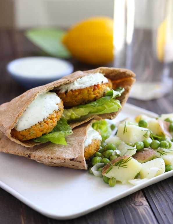 Gluten-free Falafel with Yogurt-Dill Sauce
