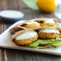 Gluten-free Falafel with Yogurt-Dill Sauce