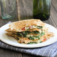 White Bean, Kale & Tomato Quesadillas