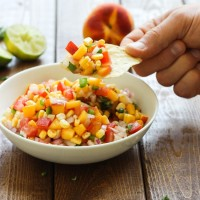 Honey-Lime Peach Salsa