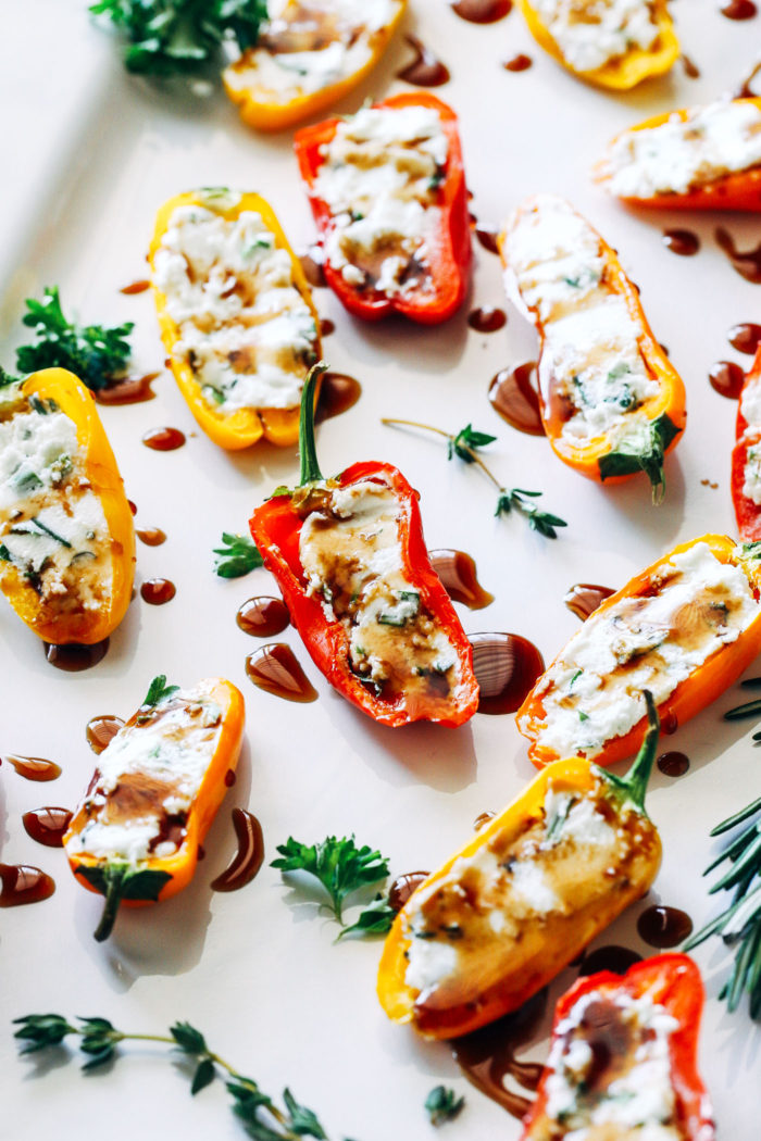 Herbed Cheese Stuffed Mini Sweet Peppers Making Thyme