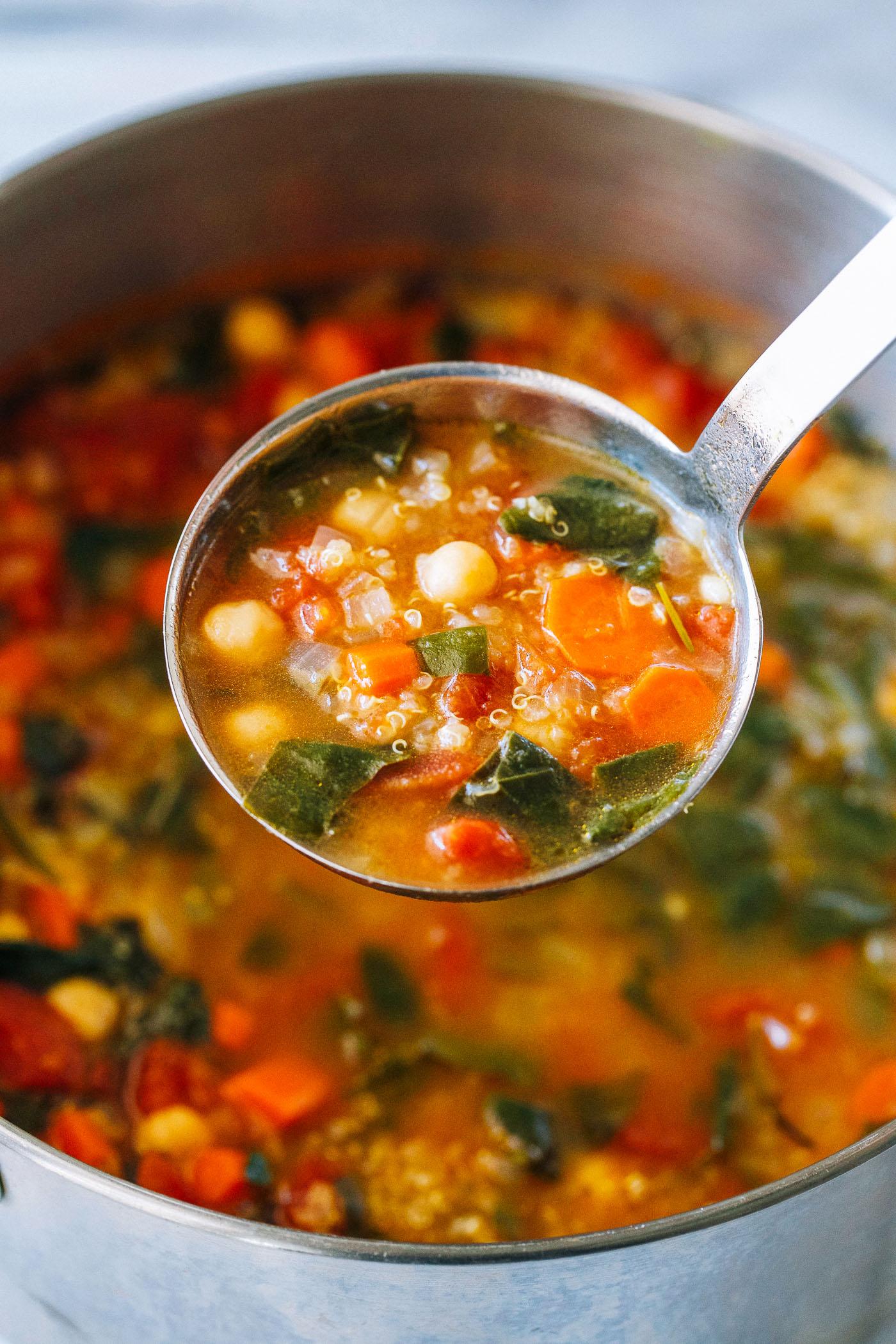 spinach quinoa soup