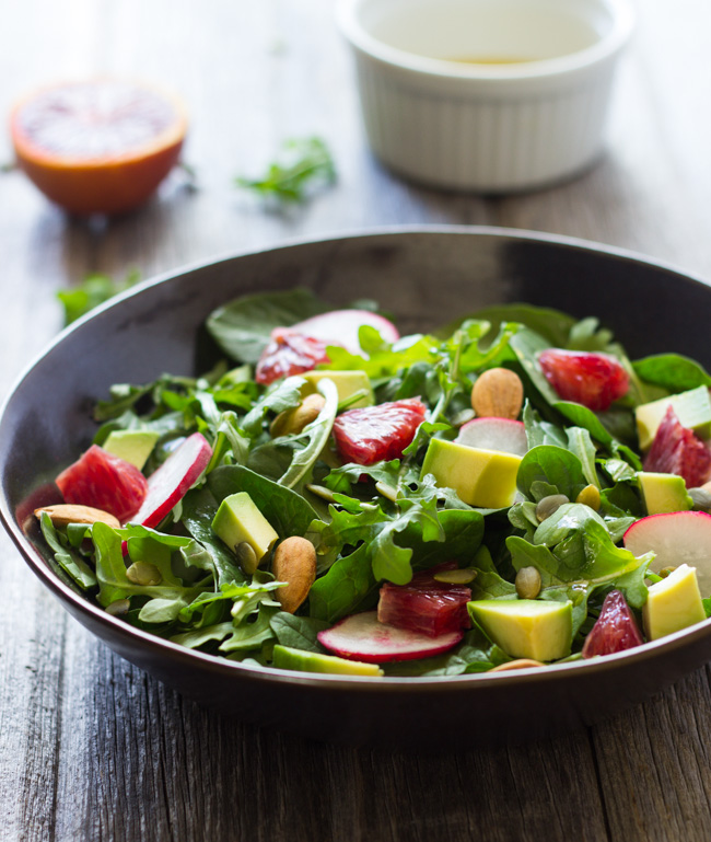 Orange Avocado and Arugula Salad- bursting with flavor and packed full of vitamin C!
