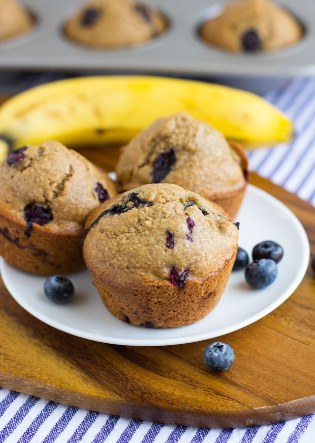 Flourless Blueberry Banana Muffins - Making Thyme for Health