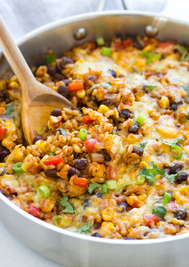 One skillet mexican rice casserole making thyme for health one skillet mexican rice casserole an easy dinner recipe with almost zero clean up forumfinder Image collections