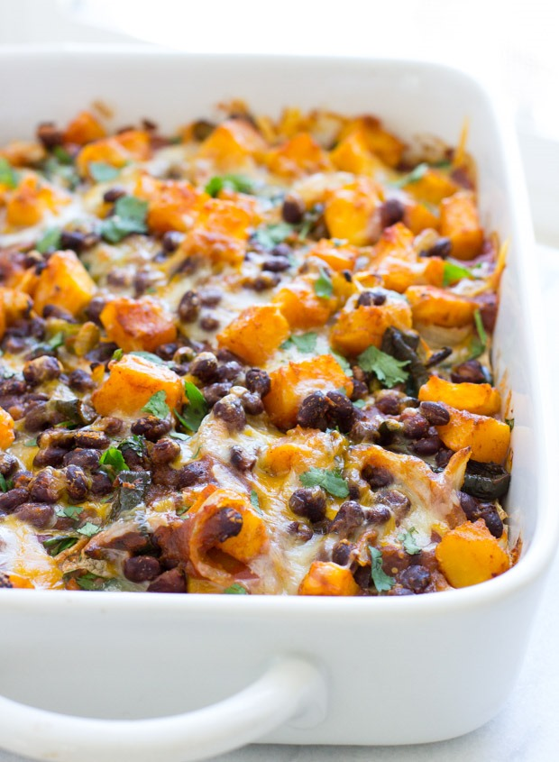 Butternut Squash Enchilada Casserole from Making Thyme for Health