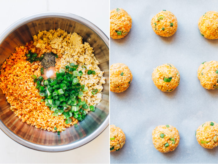 Baked Buffalo Chickpea Bites- made with just 6 simple ingredients! (vegan and gluten-free)