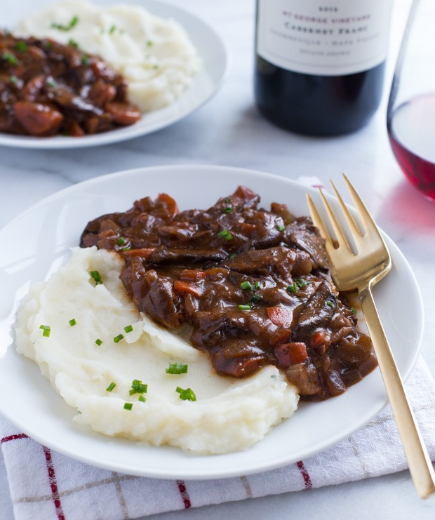 Vegan Mushroom Bourguignon from Making Thyme for Health
