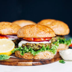 Vegan Mediterranean Chickpea Burgers - Making Thyme for Health