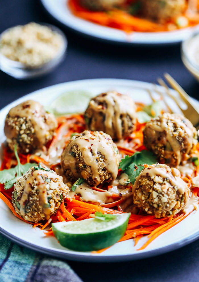Thai Quinoa Meatballs from Making Thyme for Health