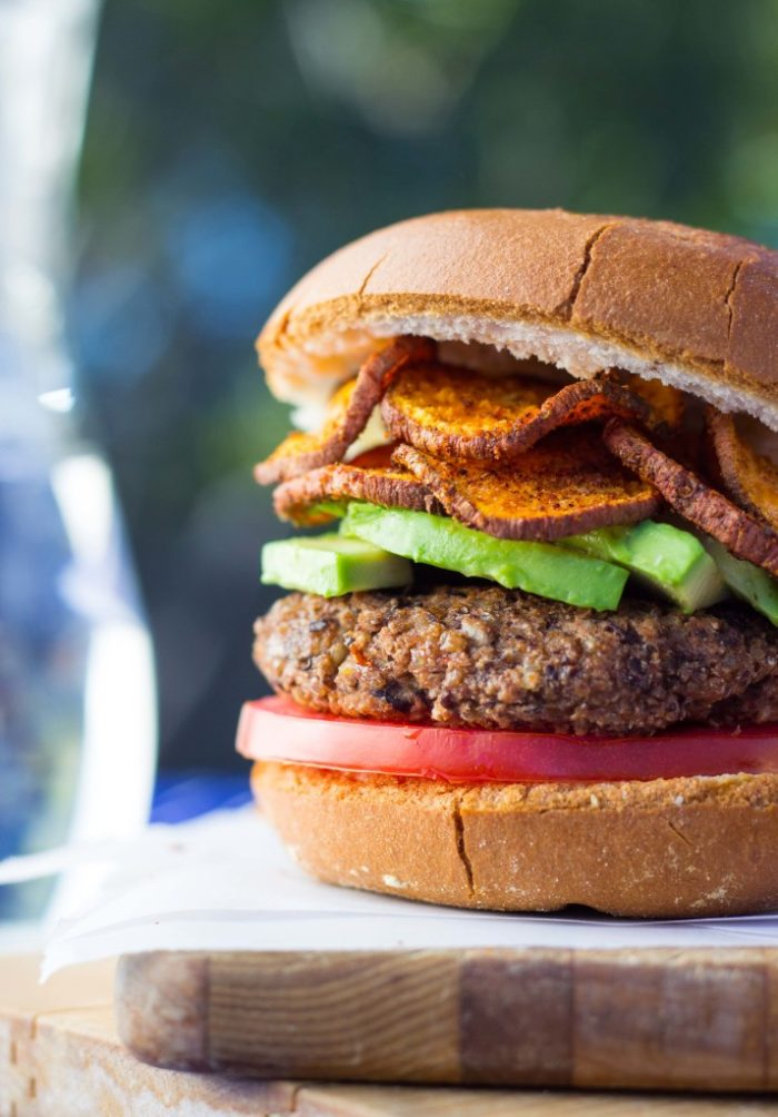 Easy Vegan Black Bean Burgers from She Likes Food