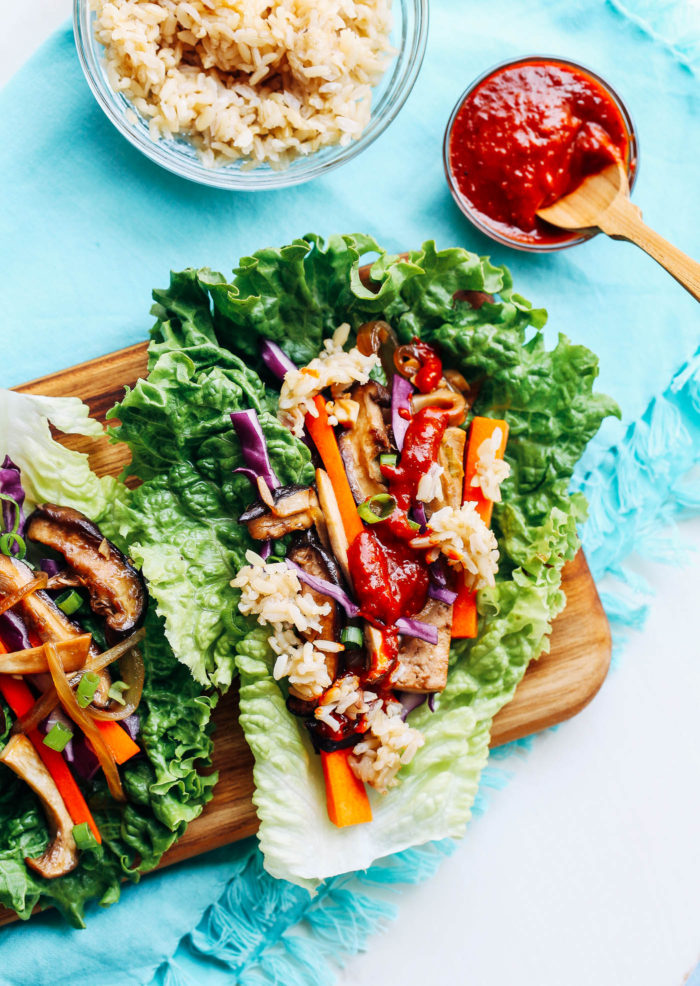 Vegan Bulgogi Lettuce Wraps from Making Thyme for Health
