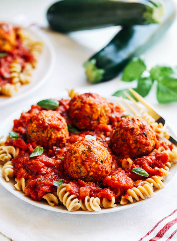 Vegan Zucchini 'Meatballs' from Making Thyme for Health
