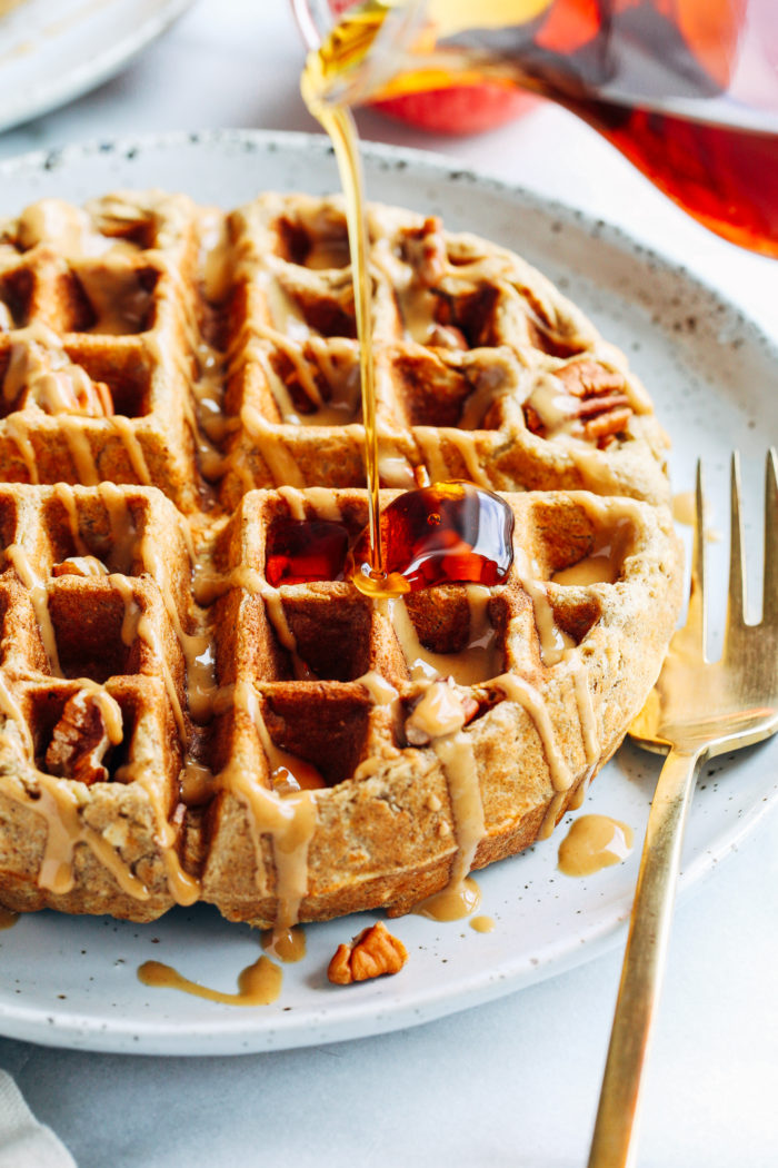 Apple Cinnamon Oatmeal Waffles Making Thyme For Health