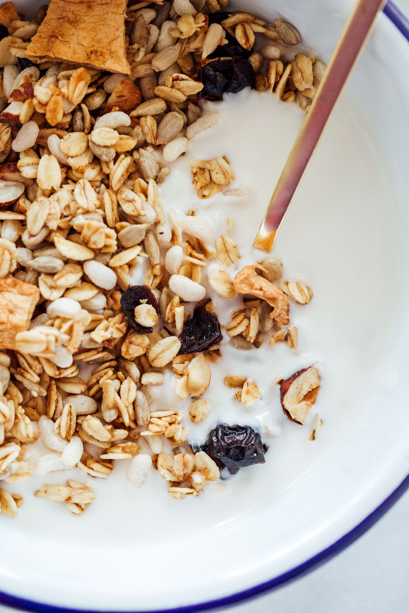 Apple Cinnamon Granola with Hazelnuts and Cranberries - Making Thyme ...