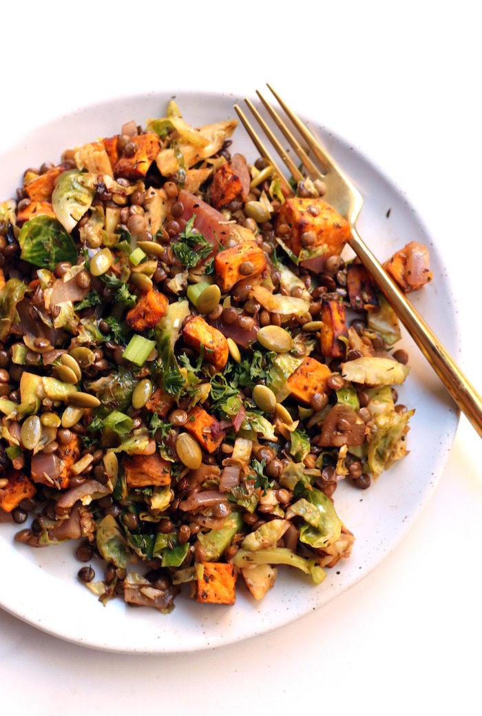 Loaded Lentil Salad from Hummusapien
