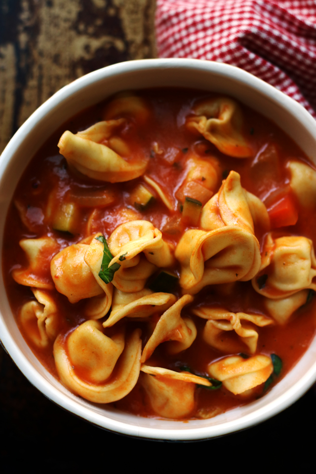 One Pot Tortellini Primavera Soup from Eats Well With Others