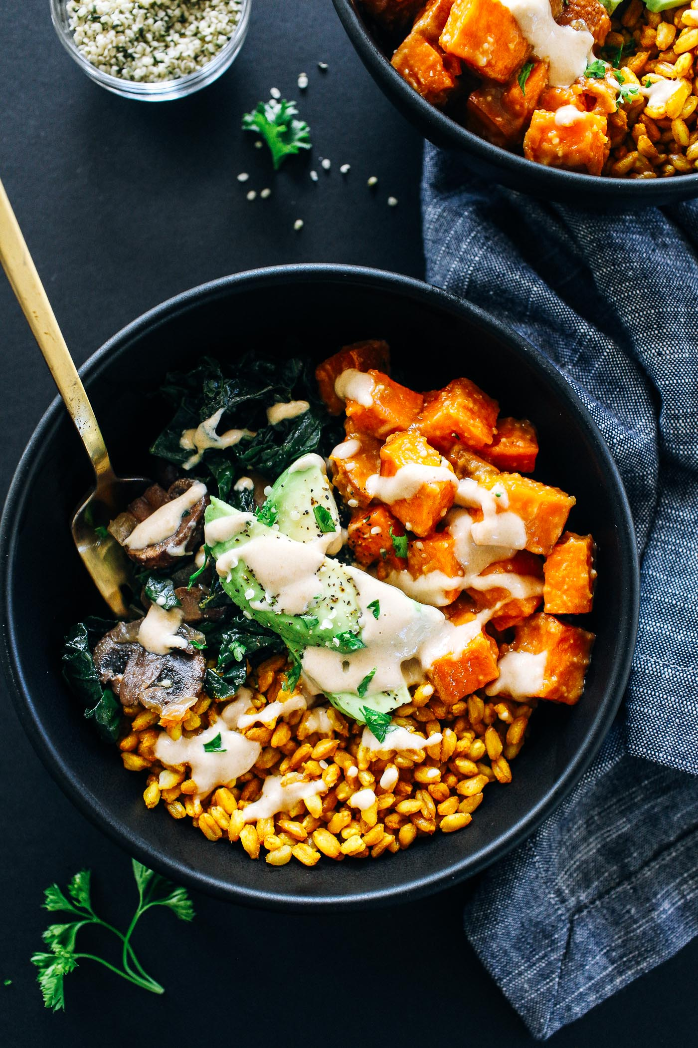 Miso Glazed Sweet Potato Bowls A Healthy Bowl Of Winters Best Vegetables Coated In A